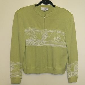 St John Collection Vintage Sweater Seashells sz 12